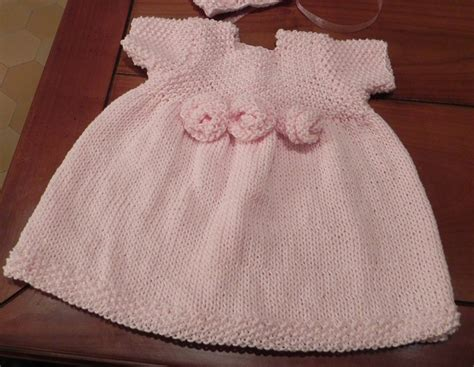 knitted dress patterns for toddlers rosette baby dress knitting pattern pdf