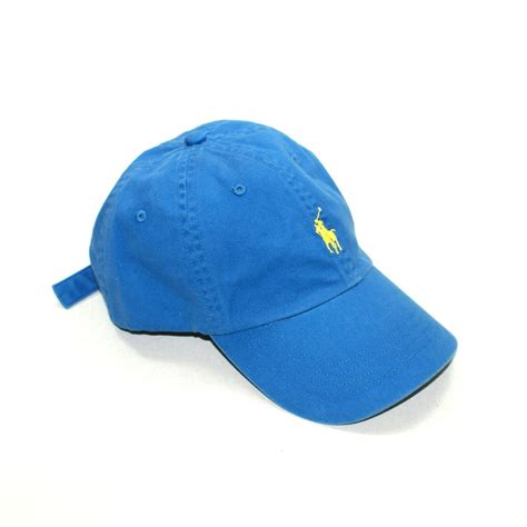 Polo Ralph Lauren Classic Signature Pony Hat Blue #6510261 AAEP   Polo Ralph Lauren 6510261 AAEP