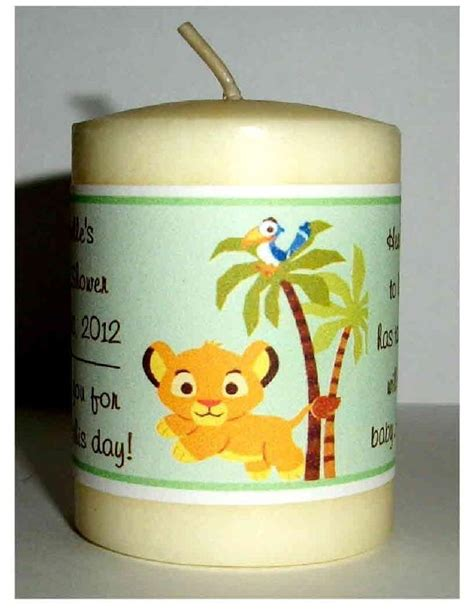 Simba Baby Shower Favors by 14 King Baby Simba Baby Shower Favors Votive Candle