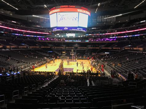 section 106 staples center staples center section 106 clippers lakers