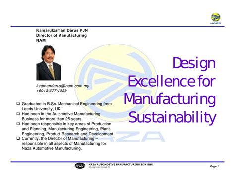 design for manufacturing presentation seminar presentation design excellence for manufacturing