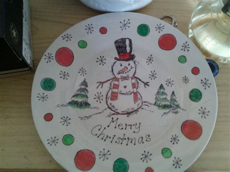 christmas plate done with sharpies getting my craft on