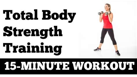 the 15 minute one dumbbell 15 minute total body strength workout with dumbbells