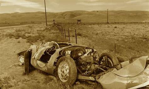 James Dean Porsche Crash by Unknown James Dean Crash Image Sanford Roth James Dean