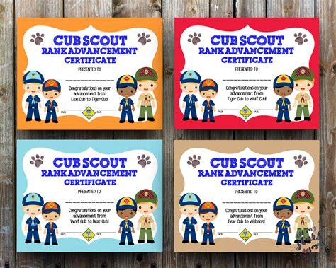 Cub Scout Advancement Card Templates Packmaster by Cub Scout Rank Advancement Certificate Pack 8 5x11 Jpg