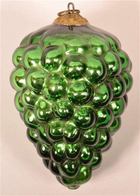 green blown glass cluster  grapes german kugel antique vintage christmas pinterest
