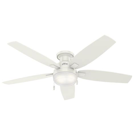 low profile white ceiling fan with light dempsey 52 in low profile no light indoor fresh white ceiling fan 59248 the home depot