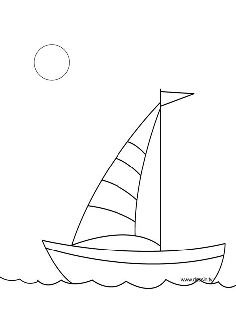 simple sailboat coloring page coloring pages