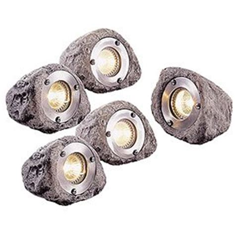 Rock Lights For Garden Master Craft Low Voltage Outdoor Rock Light Set Of 5 Landscape Path Lights