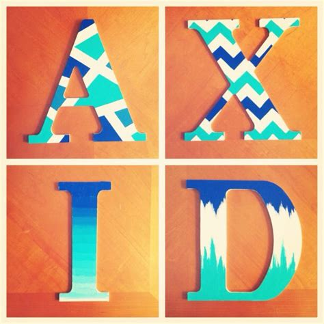 alpha xi delta painted wooden letters things i ve made