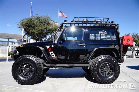 black jeep 2 door 2014 sema black anzo jeep jk wrangler 2 door