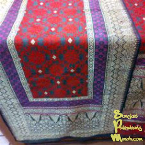 Songket Asli Palembang Bungo Cino 43 pre order kain songket bahan alam corak bungo cino 3