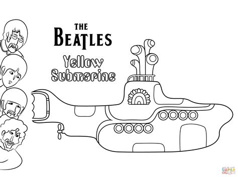 coloring pages yellow submarine the beatles yellow submarine cover art coloring page