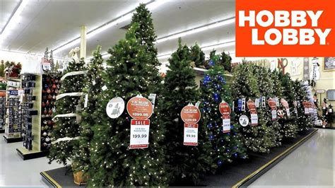 4k christmas section at hobby lobby christmas shopping