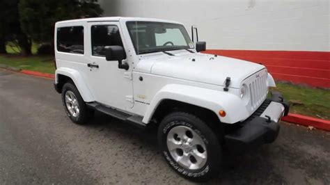 jeep white 2 door 2014 jeep wrangler sahara bright white el224789