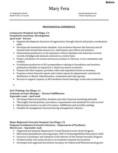 resume sle for administrative assistant position executive administrative assistant resume exles
