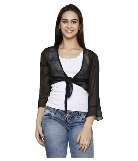 Jihan Dress By Valisha Black Latte Size M buy espresso black poly chiffon shrugs at best prices in india snapdeal