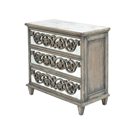 wood and mirrored furniture buy antique wood and mirrored 3 drawer chest from fusion