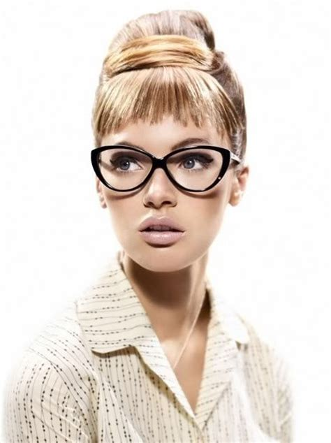 hairstyles for cat eye glasses 53 best pretty girls with glasses images on pinterest