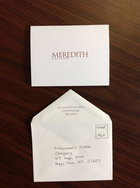 thank you letter after address pin by meredith college acp on after the