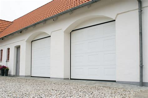 wonderful white square modern wood insulated garage doors