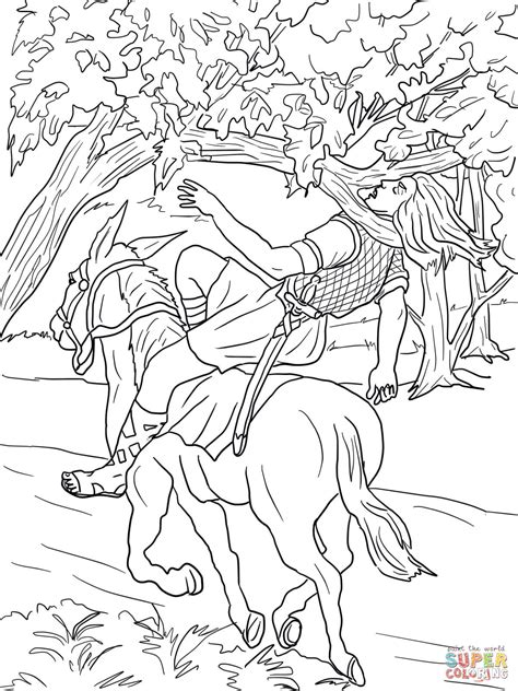 coloring pictures king david absalom death coloring page free printable coloring pages