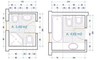 Ordinario Piatti Doccia Misure Minime #8: Esempio-dimensioni-sanitari-bagno-2--1024x631.jpg