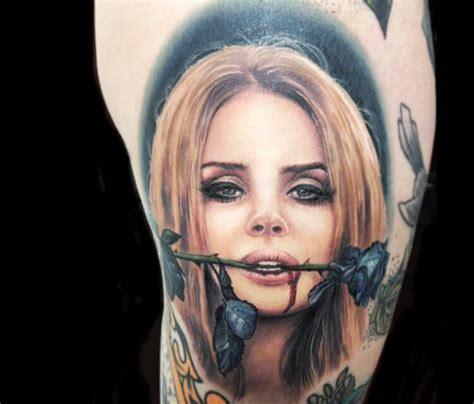 lana del rey tattoo portrait by paul acker no 29