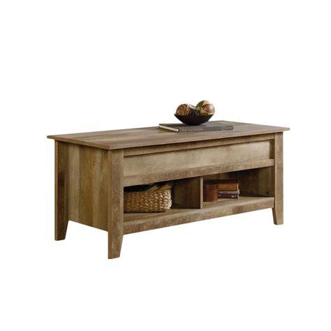 oak coffee table with lift top sauder dakota pass lift top coffee table in craftsman oak ebay
