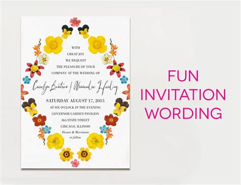 Wedding Invitation Wording Formal Modern Fun Wedding Ideas Wedding Invitation Wording Wedding Invitation Wording Templates