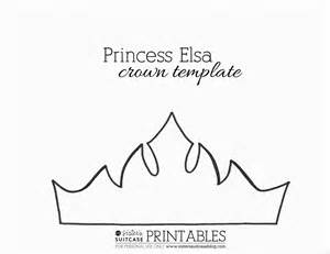 crown craft template princess elsa wreath frozen inspired momeefriendsli