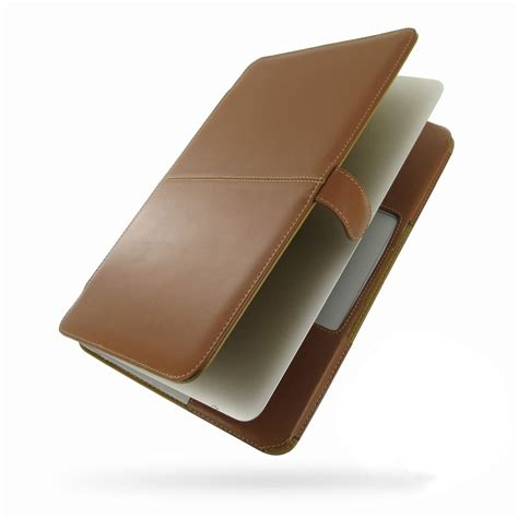 Apple Air 3 macbook air 2008 13 3 quot leather book stand brown kickstand