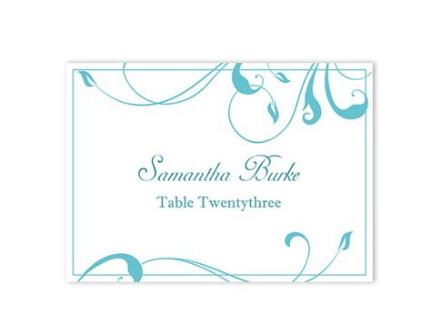 table setting cards template place cards wedding place card template diy editable