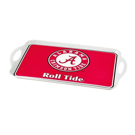 bsi products ncaa alabama crimson tide melamine serving tray 38002 the home depot