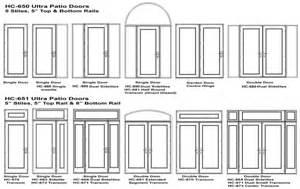 Patio Door Sizes Swing Patio Door Options And Accessories