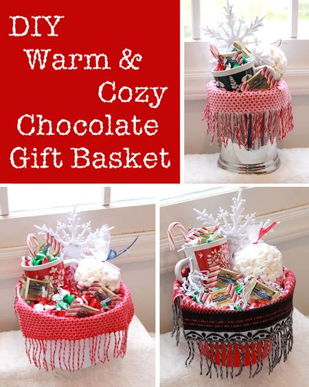 diy warm and cozy chocolate gift basket ideas i think i