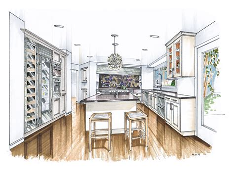 interior design drawing set more recent kitchen renderings interiors sketches and interior sketch