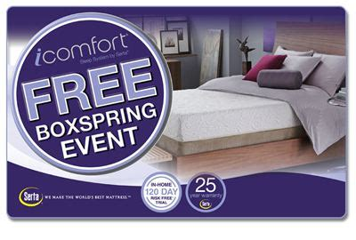 How To Get A Free Mattress by Serta Mattress Offers Labor Day Savings With The Icomfort 174 Free Box Event Serta Mattress