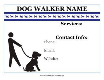 Flyer For Dog Walker Walking Business Flyer Template