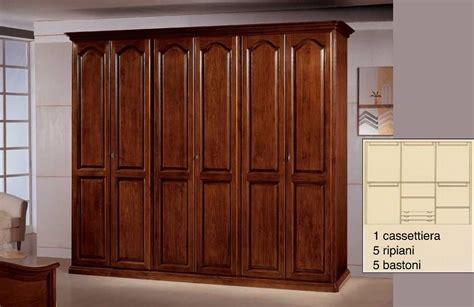 porte in legno massiccio armadio 6 porte in legno massiccio