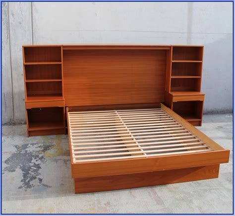 ikea king malm bed frame with attached nightstands bed with attached nightstands ikea platform bed with