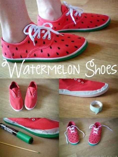 diy watermelon shoes watermelon foxes and shoes on