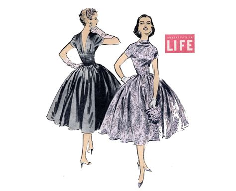 dress pattern v back 1950s dress pattern v back full skirt fit and flare party