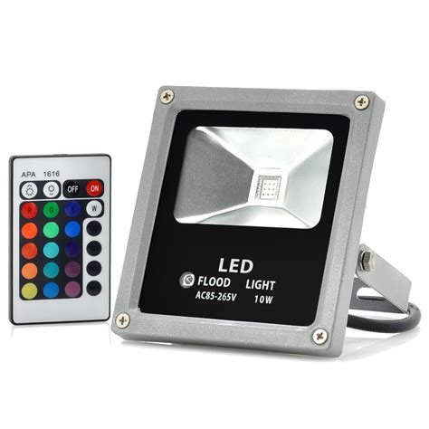 remote control outdoor flood lights outdoor waterproof led flood light 10w multicolor