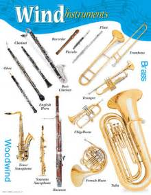 Wind instruments learning chart posters b j w pepper sheet music