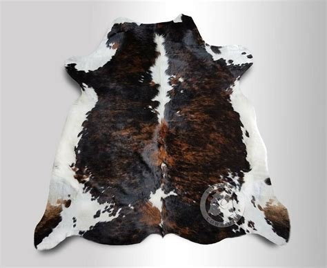 Cowhide Rugs by New Cowhide Rug Leather Brindle Tricolor 5 X7