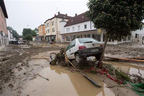 pizzeria simbach am inn seine still rising in as streets flood landmarks