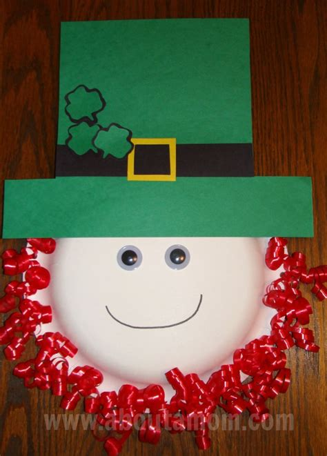 leprechaun paper plate craft for st s day for