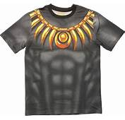 Black Panther Sublimated Costume T Shirt Sheer
