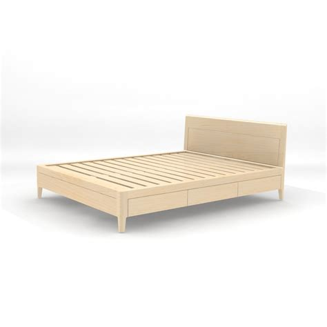 modern wood platform bed maple storage bed platform bed no 2 modern wood bed